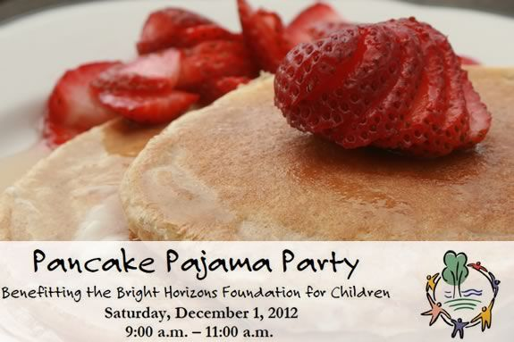 Bright Horizons in Andover is having a pancake pajama party fundraiser!