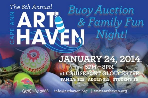 The Cape Ann Art Haven Buoy Auction is a chance to have fun and help Art Haven