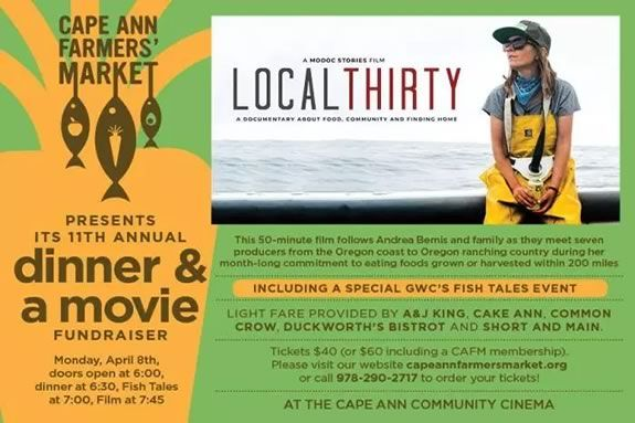 Cape Ann Farmers Market hosts their annual dinner and movie featuring 'Local Thirty'