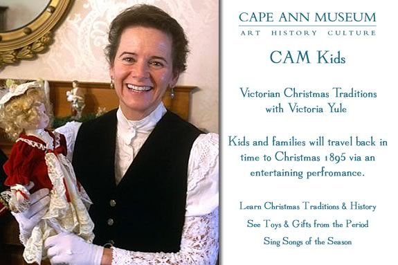 CAM Kids at Cape Ann Museum Victorian Christmas Traditions with Victoria Yule
