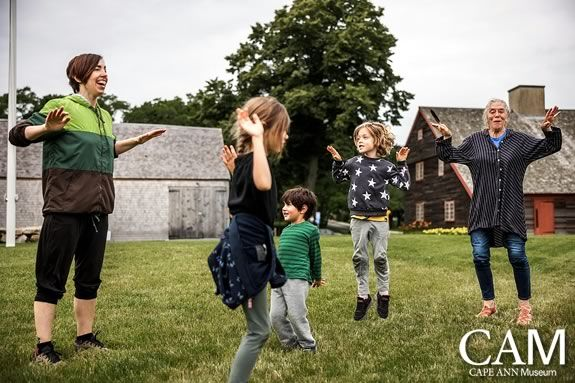 Come to CAM Green in Gloucester Massachusetts for a Free Family Movement & Art session.