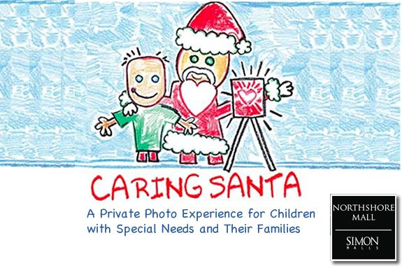 Caring Santa Photo Sessions at North Shore Shopping Center in Peabody