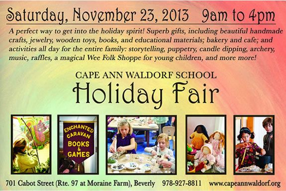Kids will love the family activities and events at the Cape Ann Waldorf School's
