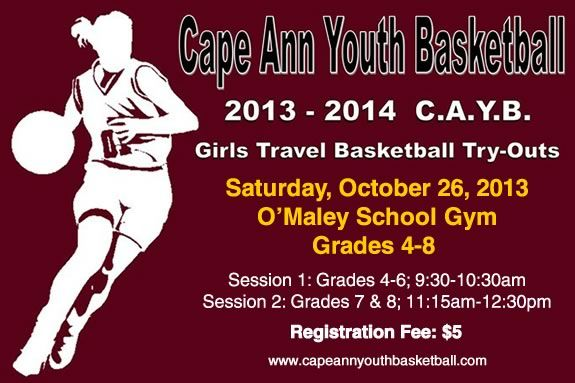 Girls in Grades 4-8 are encouraged to come try out for the Cape Ann Team!