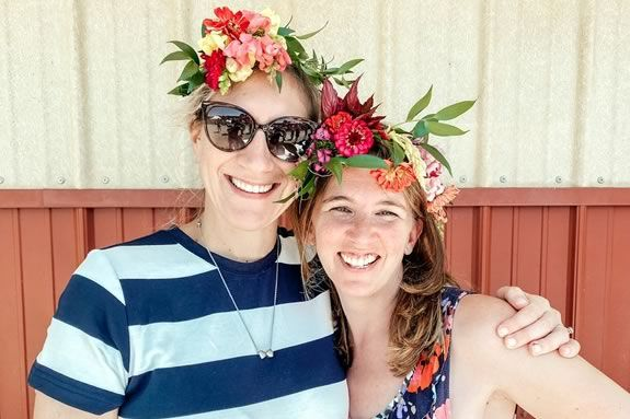 Make your own flower crown at Cider Hill Farm in Amesbury Massachusetts
