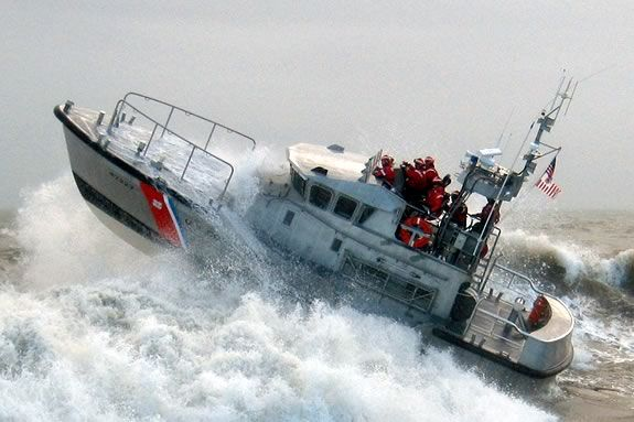 Coast Guard Surfboats handle 25' waves as a matter of routine.