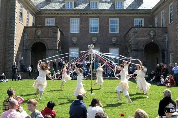 Maypole dancers at the Crane Estate in Ipswich, Masssachusetts