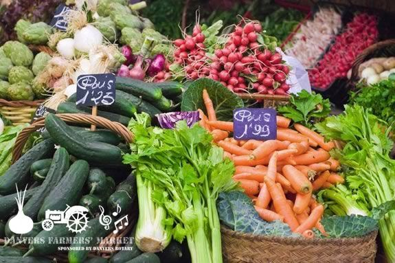 The Danvers Farmers Market has fresh fruit produce and other locally made foods every Wednesday June Through October.