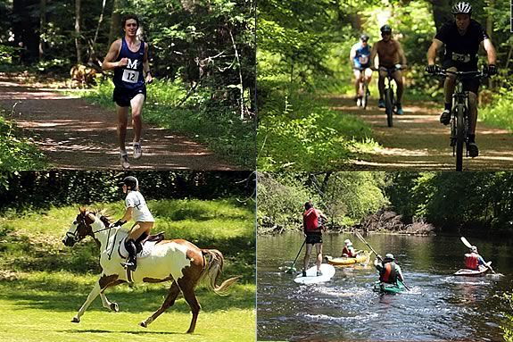 The Essex County Trail Association ECTAthlon includes horseback riding, kayaking, mountain biking and running!