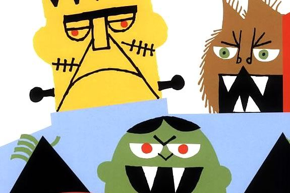 Monsters from the cover of Ed Emberly's 'Weirdos'