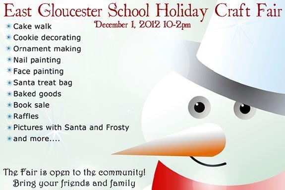 East Gloucester School Holiday Craft Fair fundraiser charity for kids.