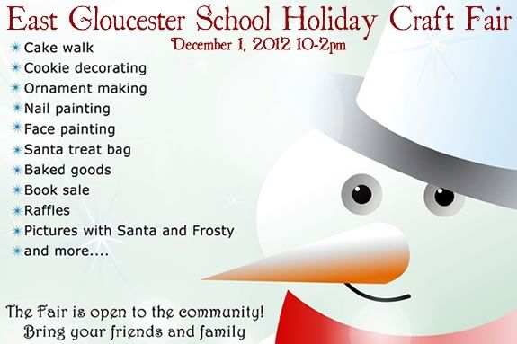 East Gloucester School Holiday Craft Fair fundraiser charity for kids.