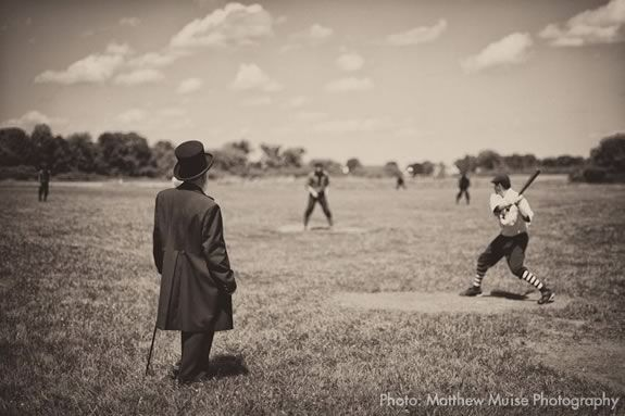 Come see how baseball used to be played at Spencer Pierce Little Farm. Photo: Matthew Muise Photography