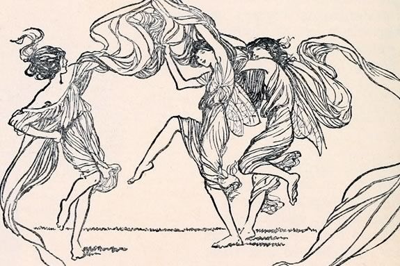 Illustration of Fairies from Princess Mary's Gift Book