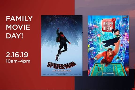 Family Movie Day at Cape Ann Community Cinema featuring 'Into the Spiderverse' and 'Wreck It Ralph 2'
