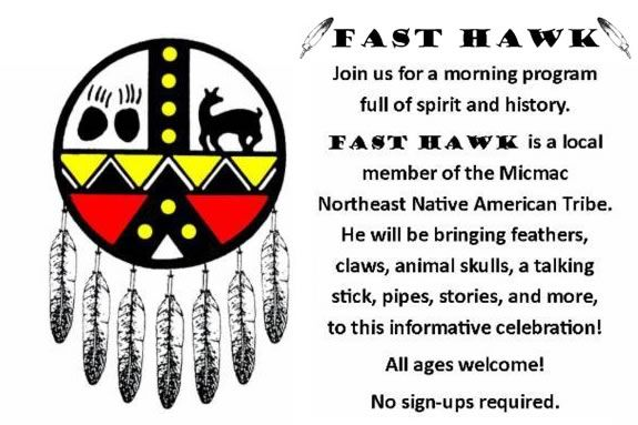 come celebrate Native American History Month at Sawyer Free Library in Glouceste