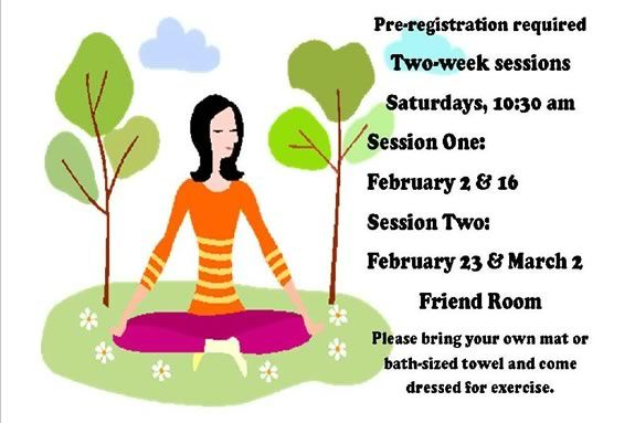 Come enjoy Friendship Yoga at Sawyer Free Library in Gloucester Massachusetts!