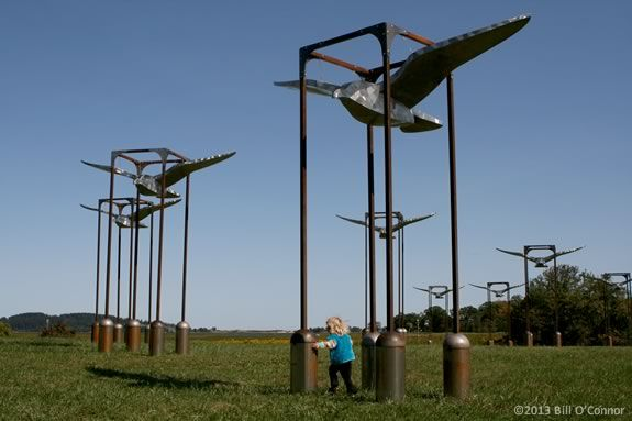 Flight by Dale Rogers installed at the Cox Reservation in Essex, Massachsuetts