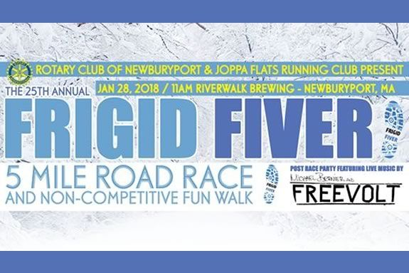 The Frigid Fiver starts and ends at Riverwalk Brewing in Newburyport!