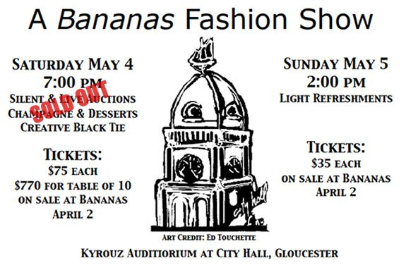 Bananas Fashion Show to Benefit Gloucester City Hall Restoration