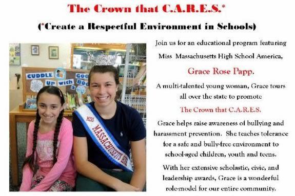Miss Massachusetts High School America at Sawyer Free Library