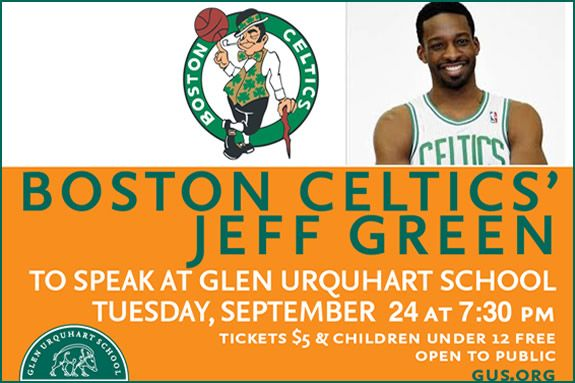 Boston Celtics' Jeff Green to Speak at GUS in Beverly MA