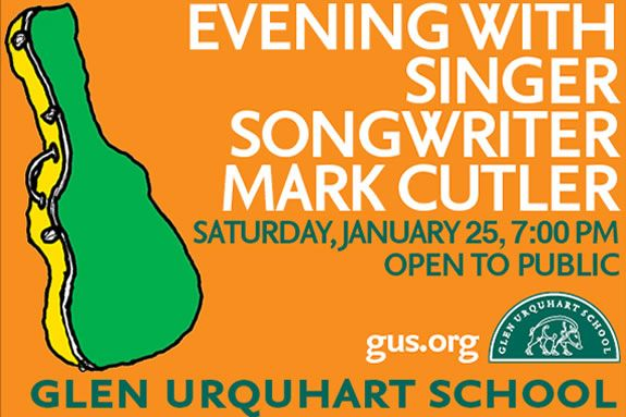 Mark Cutler will perform at Glen Urquhart School in Beverly MA