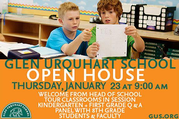 Glen Urquhart GUS Admissions Open House 2014 Best Education North Shore Children