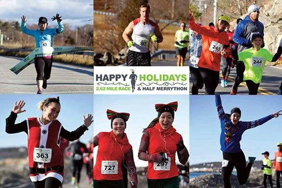 Happy Holidays Half Merrython starts at Good Harbor Beach in Gloucester and follows a route along the Gloucester's beautiful back shore.