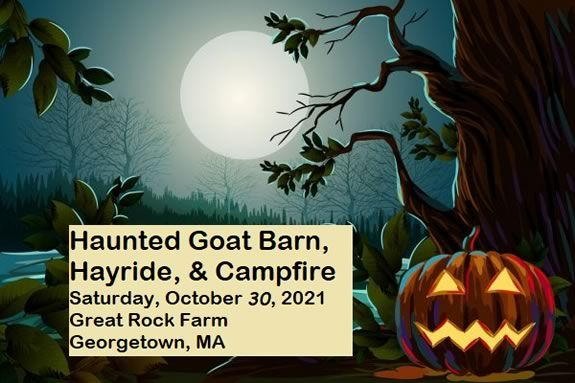 Haunted Goat Barn at Great Rock Farm in Georgetown Massachusetts