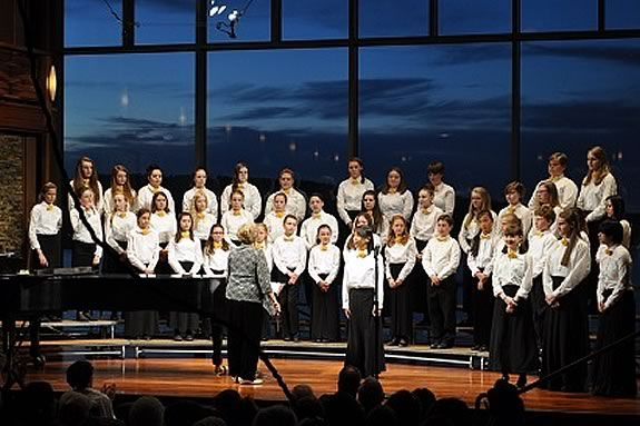 Honors Youth Choir North shore will perfrom at the Shalin Liu Performing Arts Center in Rockport Massachusetts