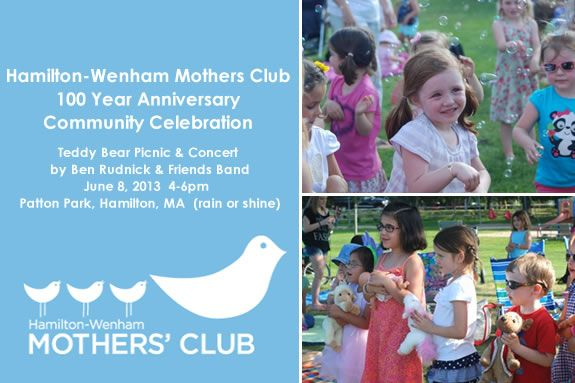 Hamilton-Wenham Mothers Club 100 Year Anniversary Community Celebration