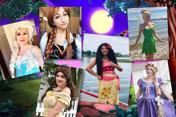 Ice Queen Cosplay hosts a princess party at Salem Willows in Salem Massachusetts