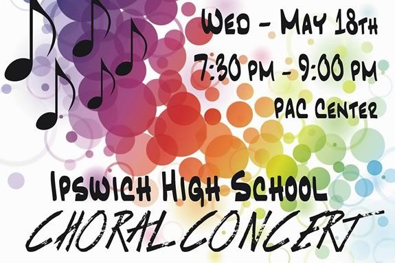 Ipswich High School FREE Choral Concert at the performing arts center