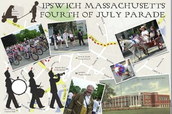 Ipswich Massachusetts celebrates the 4th of July with a parade through downtown!