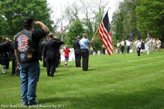 2011 Ipswich Massachusetts Memorial Day ceremonies. Photo: Nancy Gallant