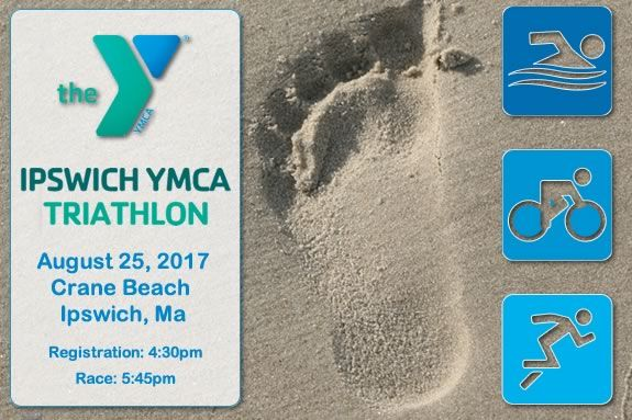 Runs Swim and bike a triathlon at The Trustees of Reservations' Crane Beach in Ipswich MA!