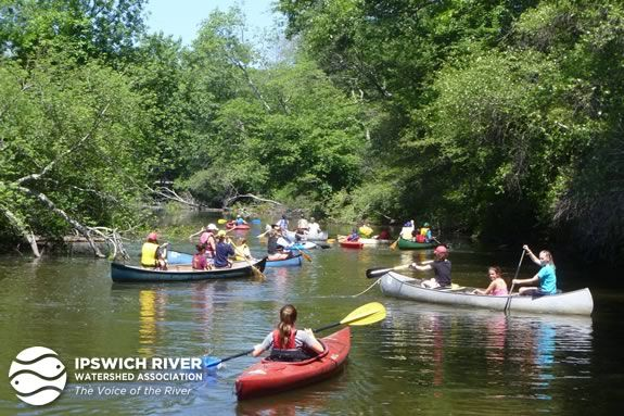 Learn paddling skills with the Ipswich Watershed Association as part of Trails and Sails!