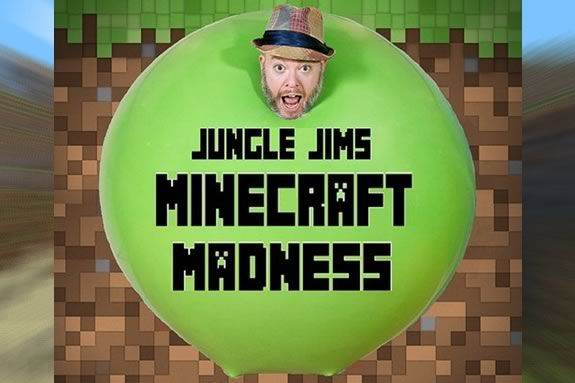 Jungle Jim's Minecraft Madness combines Magic, Comedy and balloons at Sawyer Free Library in Gloucester Massach