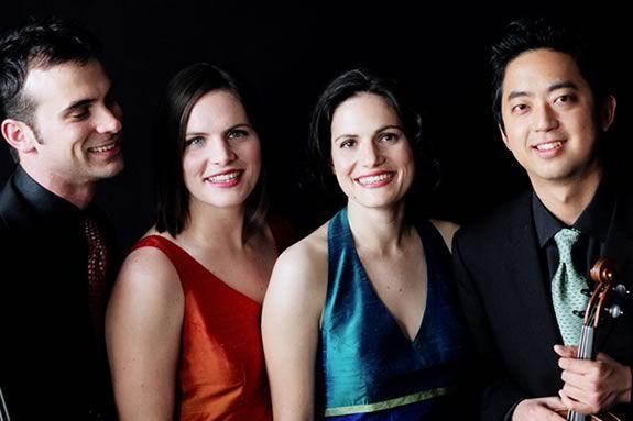 The Jupiter String Quartet plays the Shalin Liu Center in Rockport Massachusetts