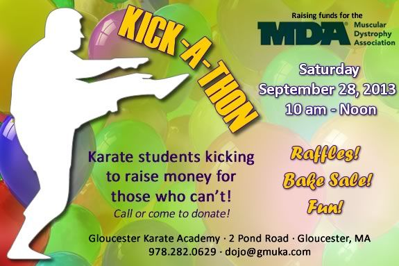 Proceeds from Gloucester Uechi Karate Kick-a-Thon in Gloucester benefit the MDA