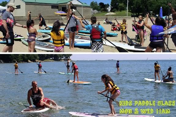 Kids will learn to paddle board with Coast to Coast in Beverly!