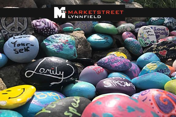Kindness Rocks Garden Art Exhibit at MarketStreet Lynnfield
