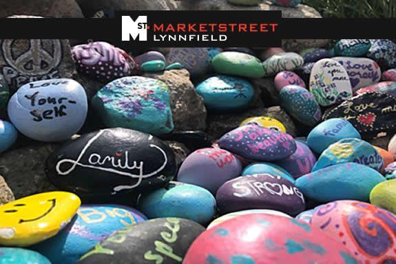 Kindness Rocks Garden Art Exhibit at MarketStreet Lynnfield