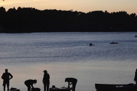BYOB- bring your own boat - to this Trails & Sails twilight paddle at Lake Gardner!