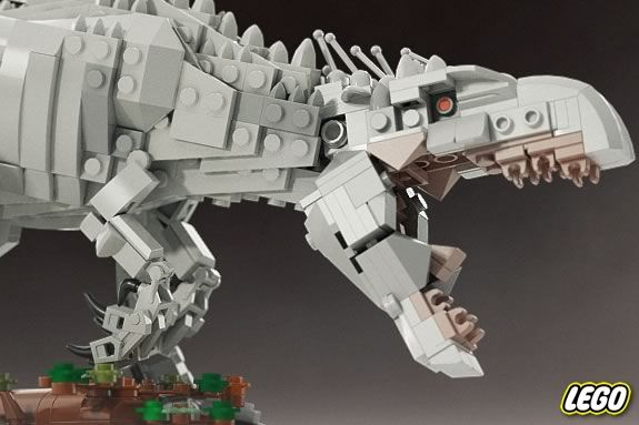 Kids will build LEGO dinosaurs at the Ipswich Public Library!