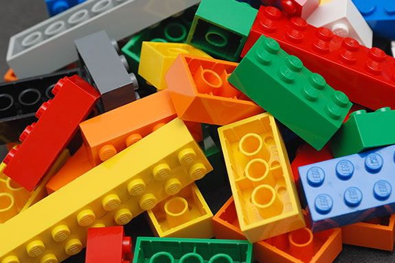 Families are invited to come build using LEGOs at the Beverly MA Public Library