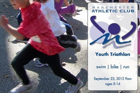 The Manchester Athletic Club Youth Triathlon is for kids ages 5-14!