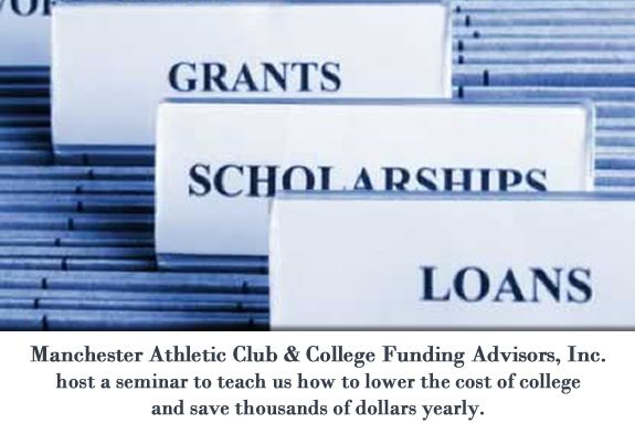 Manchester Athletic Club & College Funding Advisors, Inc. host a seminar to teac