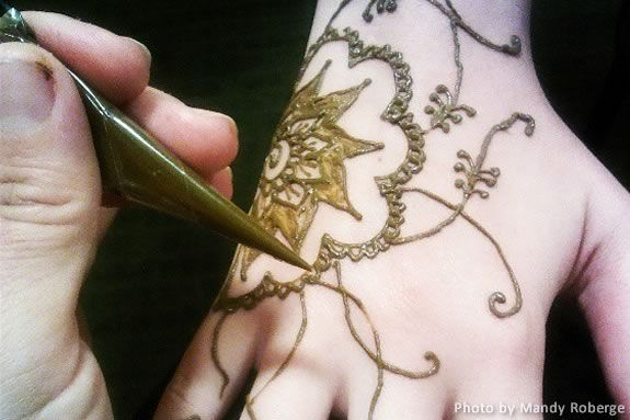 Henna Tattoing Workshop by Mandy Roberge at the Amesbury Public Library